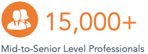15,000+ mid-to-senior level professionals