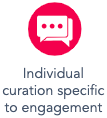 individual curation specific to engagements