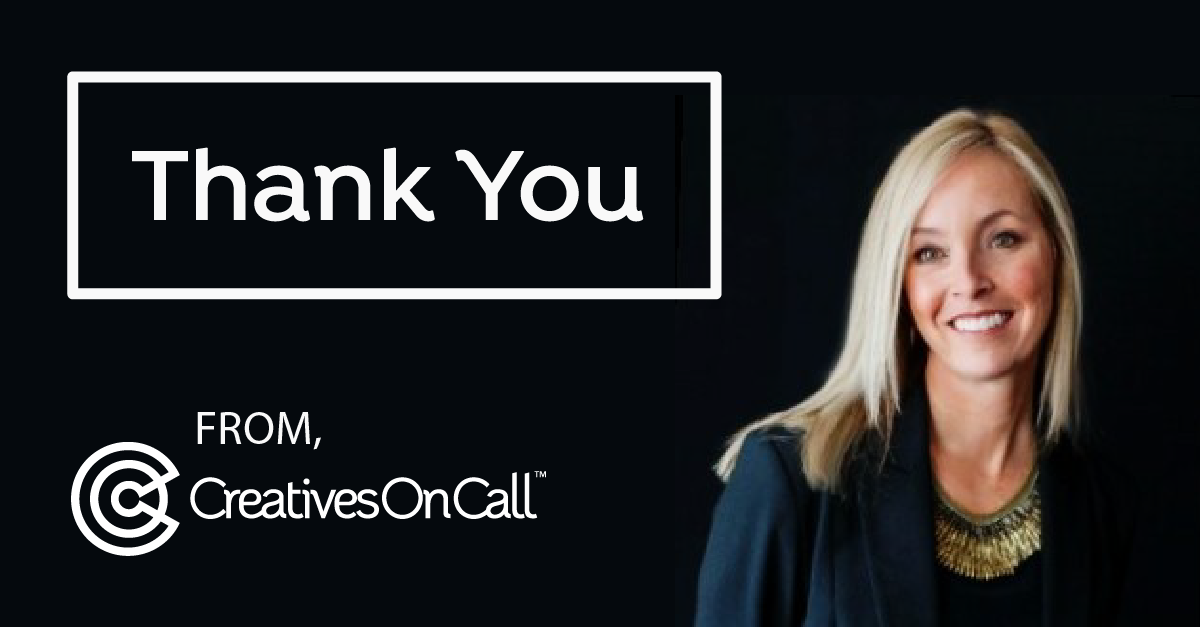 Thank You from Creatives On Call